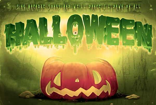 Halloween typography tutorial