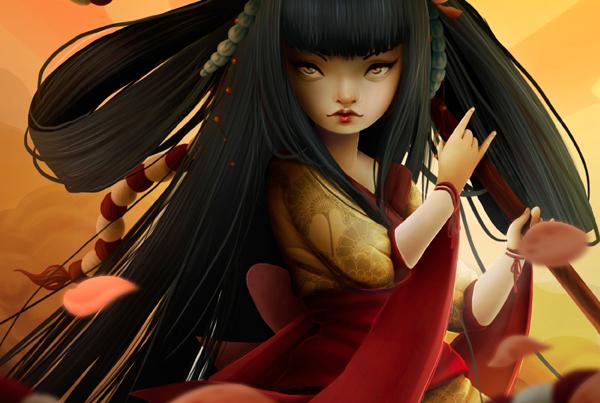 Izanami RPG Card Illustration